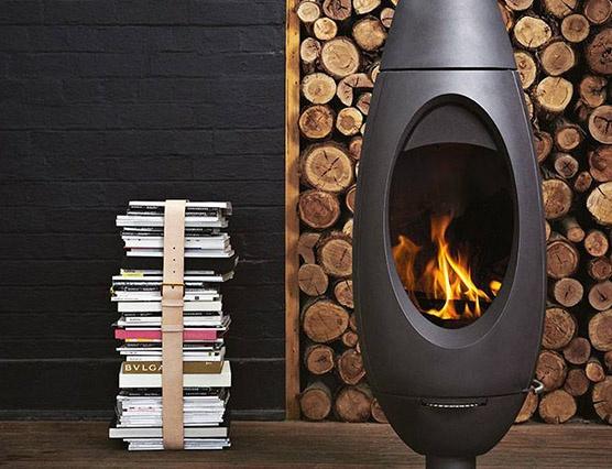 Ecosmart Water Underfloor Heating Wood Pellet Fireplace